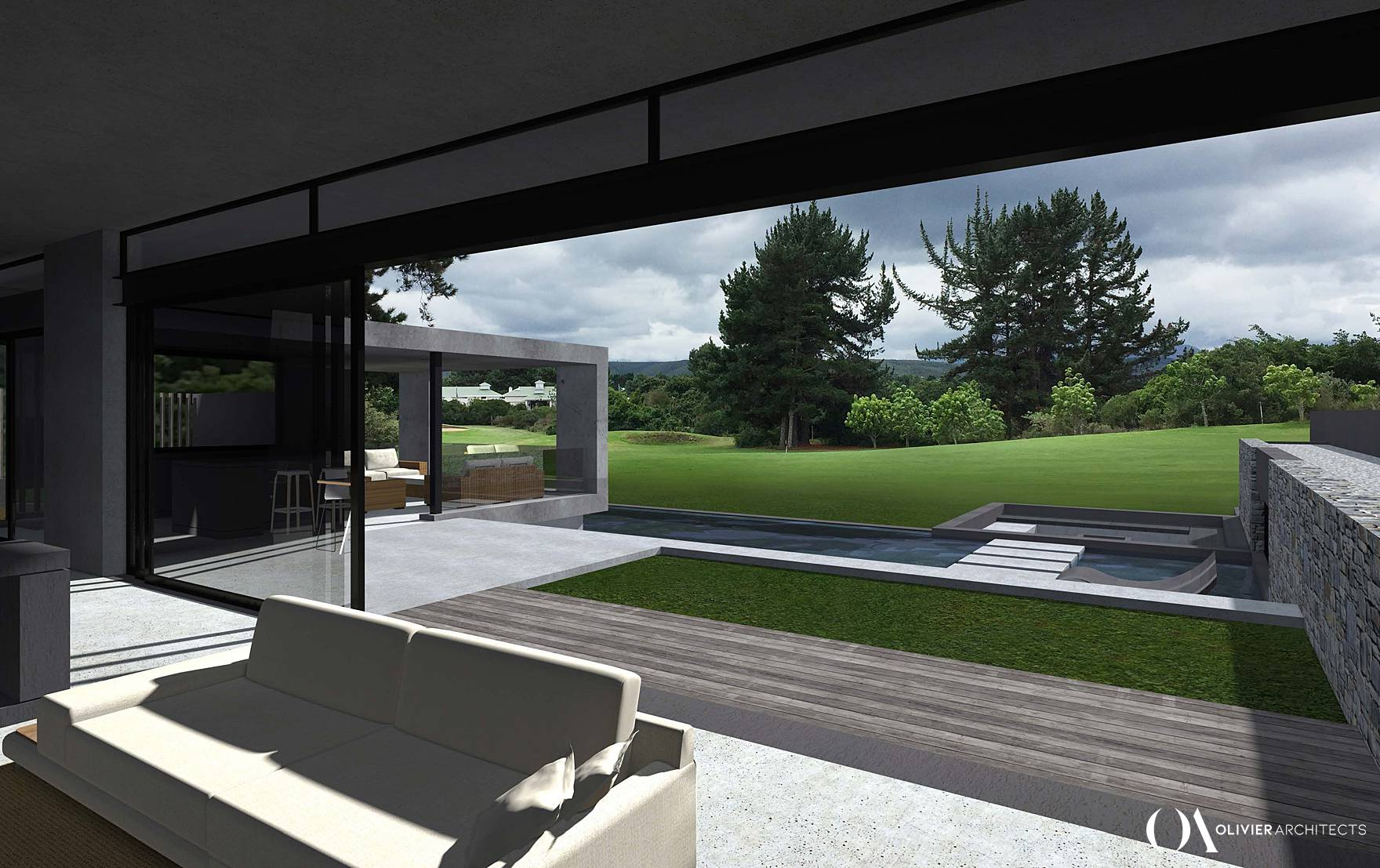 Golf Estate House design, Plettenberg bay, Olivier Architects