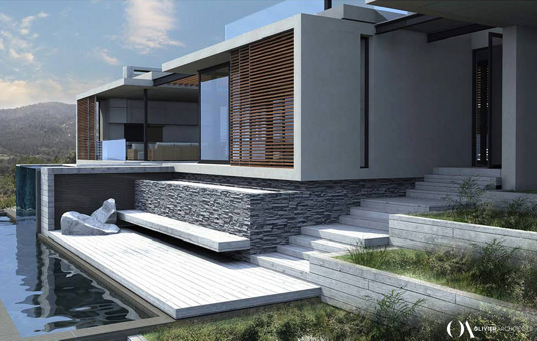 Contemporary Lifestyle house design, Simola Golf & Country Estate, Olivier Architects