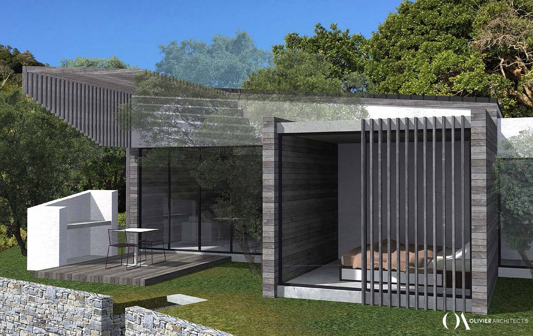 Olivier Architects, Contemporary Lagoon Side Lifestyle Villa - Holiday Villa - Beach House - South Africa