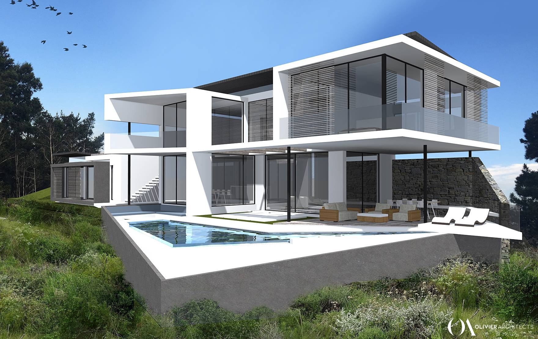 Modern Contemorary South African Architecture in Simola, Knysna by Olivier Architects