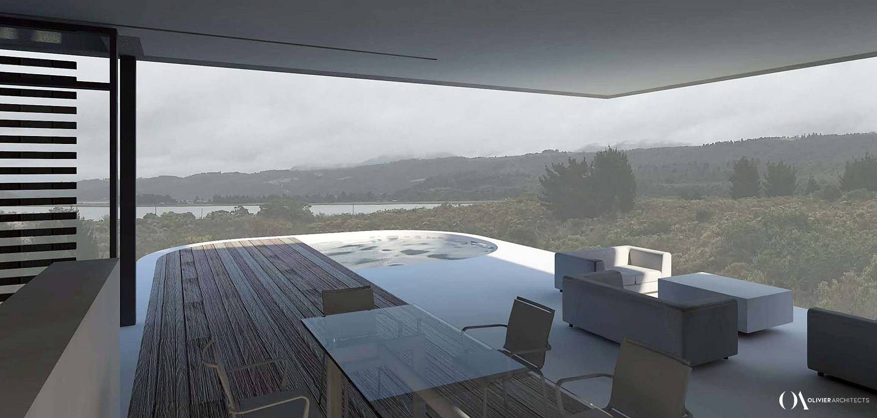 Lake house in Knysna, Sedgefield, South Africa, Olivier Architects