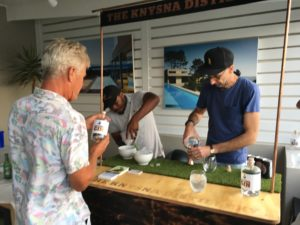 Olivier Architects office opening on Thesen Island with Knysna Gin and Dave from Island Pools.